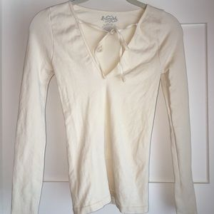 Free People Ivory Top